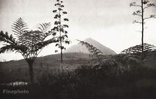1934 Vintage INDONESIA Java Island Volcano Landscape Photo Art 11x14 ~ HURLIMANN