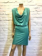 Twenty8Twelve Jade Green Drape Neck Dress Size M 100% Silk