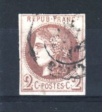 "FRANCE STAMP TIMBRE 40 A "" CERES BORDEAUX 2c REPORT 1 "" OBLITERE TB SIGNE R531"