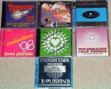 CD Sammlung, 11 CD´s, Love Parade, Rave Base, Techno Mix, DJ Convention