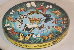 Springbok Butterflies Circular Round Jigsaw Puzzle, vintage 1966