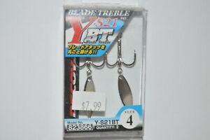 decoy Y-S21BT treble hook willowleaf blade treble hooks size 4