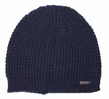 New Mens Ryan Seacrest Distinction Waffle Knit Navy Blue Beanie Hat One Size