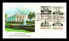 DR JIM STAMPS US WHITE HOUSE ARCHITECTURE COMBO UNSEALED FDC COVER BLOCK