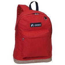 Everest Luggage Suede Bottom Backpack - Red