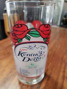 127th Kentucky Derby Churchill Downs Louisville Official Glass 2001 Mint Julep