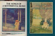 THE SONGS OF A SENTIMENTAL BLOKE C.J.DENNIS HCDJ SLIPCASE 1981 AUSTRALIAN POETRY
