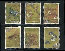JAPAN 2007 PHILATELIC WEEK (PAINTING FOR YEAR OF BOAR) COMP. SET 6 STAMPS USED