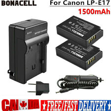 2x LP-E17 Replace Battery + Charger For Canon Rebel SL2, Rebel T6i, EOS M3, M5