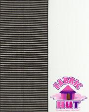 107151035- Black & White Vertical Strip Polyester Woven Braid Upholstery Trim