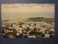 Old Vintage 1910's - Honolulu and Harbor - HAWAII - POSTCARD