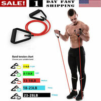 US! 5 Levels Resistance Bands Yoga Pull Rope Elastic Fitness Indoor Exercise