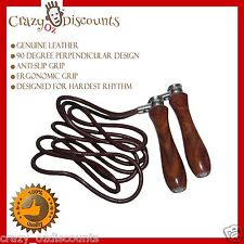 SKIPPING ROPE SPEED LEATHER JUMP ROPES ADJUSTABLE WEIGHT FITNESS BOXING MMA UFC