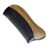 1X(Pettine per capelli di legno di sandalo verde naturale - No statico legn HK