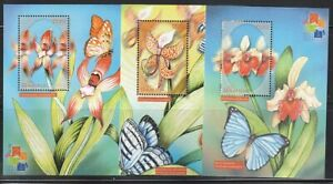 Gambia   2001   Sc # 2403-05   Orchids   3 s/s   MNH   (54349)