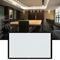 """White 16:9, 100"""" Electric Motorized Remote Projection Screen HD Movie Projector&"""