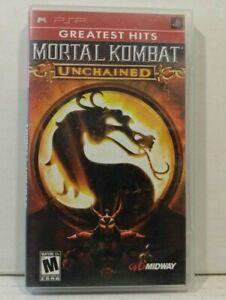 Mortal Kombat: Unchained (Sony PSP, 2006) Complete game Greatest Hits Tested