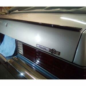 Glossy Black SV Rear Trunk Lip Spoiler Wing For 1978~83 Chevrolet Malibu Sedan