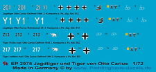 Peddinghaus 2975 1/72 Jagdtiger der s. Pz. Jäg. Abt 512 und Tiger der s. Pz. Abt