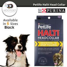 Black/6 Size, Purina Petlife HALTI HEADCOLLAR Pet Puppy Dog Training Head Collar