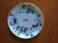 "5.5"" small purple flower plate"