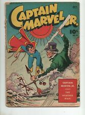 Captain Marvel Jr. #24 1944 1ST APP The WEATHERMAN Gd+ 2.5 Mac Raboy Cov Fawcett