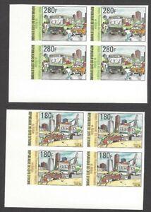 Ivory Coast #982-83 1996 Transportation in Abidjan IMPERF BLOCKS MNH