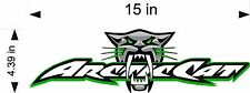 "Arctic Cat BITE Logo / GREEN / 15"" Vinyl Vehicle Snowmobile Trailer Gear Decal"