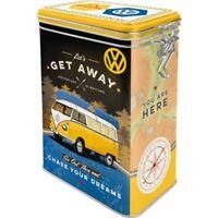 VW Bulli Aromadose mit Bügelverschluss Vorratsdose Hoard Box Metall,Neu