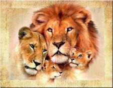 Lion Family Diamond Painting Cross Stitch Kit Embroidery Home Pattern DIY Craft