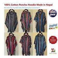 100/% Cotton Poncho Baja Unisex Boho Festival Hippy Outdoor gear Surf Hunting111