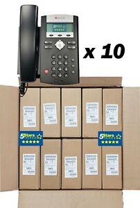 *10 PACK* Polycom SoundPoint IP 331 PoE (2200-12365-025) Brand New 1 Yr Warranty