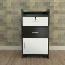 Beauty Rolling Drawer Cabinet Trolley Cart Lock Salon Barber Storage Equipment