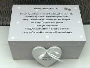 Personalised Memory Box Loved One ~ DAD ~ Or Any Name ~ Bereavement Loss