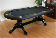 "95"" Solid Wood Poker Table MRC Poker Tables The Soprano"