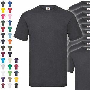 10er Pack Fruit of the Loom Valueweight T Herren T-Shirt Mehrpack Shirt NEU