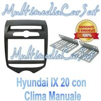 Mascherina Autoradio Adattatore Kit Doppio Din Hyundai i 20 ix 20 Clima Manuale