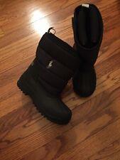 Polo Ralph Lauren SnowBoots Kids Size 2 Black