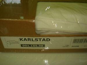 New Original IKEA cover set for Karlstad 3 seat sofa BLEKINGE WHITE 100%COTTON