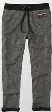 NWT Abercrombie & Fitch Mens Classic Logo Sweatpants, Gray/Black, Small #1v