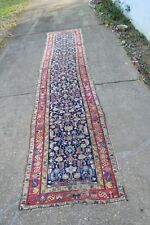 Antique Caucasian Design Persian Rug Runner Malayer 3.3x15.7 As Is.