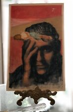 "original study illustration ""the sandman's eyes"" signed stuart kaufman 1926-2008"