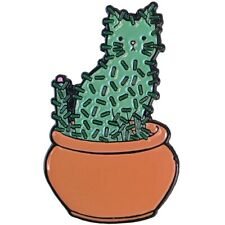 Catcus Cactus Cat In Pot Enamel Pin Lapel Bag New Cali Pretty In Ink Kitty