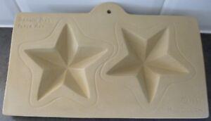 BROWN BAG PAPER ART 1994 HILL DESIGN..STARS...COOKING/CRAFT MOULD