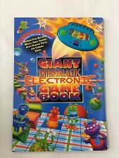 NEW GIANT INTERGALACTIC ELECTRONIC GAME BOOK, 6 Games in One, +3 up, 4 Figures