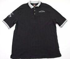 Harley Davidson Mens XXL Polo Shirt Short Sleeve Dallas Logo Black EUC 1997