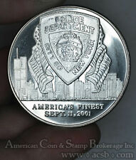 Land of Free Home of Brave Police Americas Finest silver 1ozt 9/11 WTC Medal