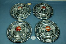 1966 BUICK SKYLARK WHEEL COVERS / HUB CAPS TWO BAR SPINNER - Set of 4