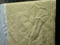 """Pintuck 92"""" CROSCILL WC KING Cotton Linen Bedskirt Dust Ruffle Tan Sand Beige"""