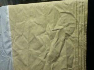 """92"""" Pintuck CROSCILL WC KING Cotton Linen Bedskirt Dust Ruffle Tan Sand Beige"""